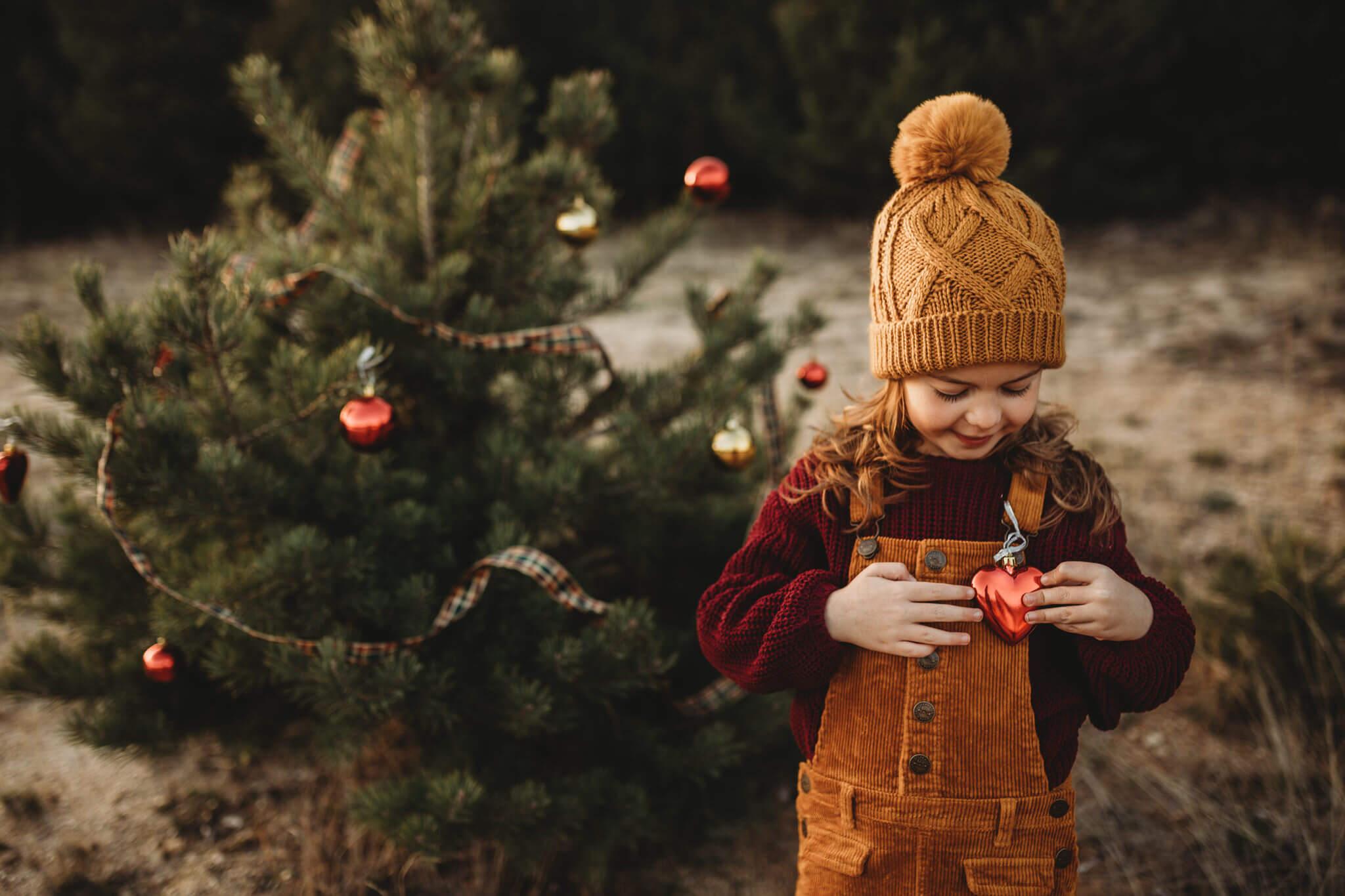Fotografia infantil de navidad en Cercedilla